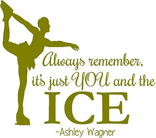 Ashley Wagner Figure Skating Wall Decal | Ice Skating Sticker / Dancing Decor 20
