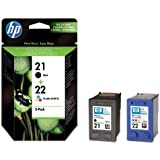 Hewlett Packard SD367AE#301 - Cartucho Inyeccion Tinta Negro/Tricolor Hp 21/22 Blister+Alarma Acústico/ Electromagnética/ Radiofrecuencia Deskjet/3920/3940/D2360/D2460/F300/F350/F380/F2180/F4100/F4180 Psc/Series 1400 Officejet/431