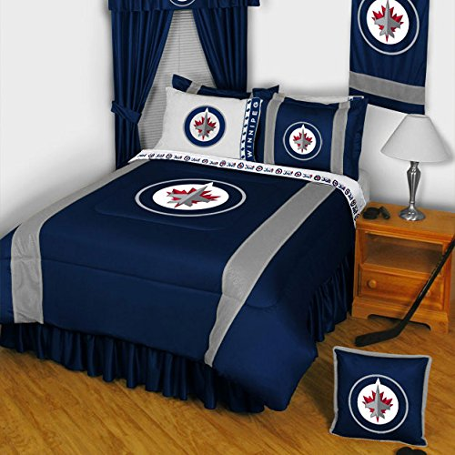 NHL Winnipeg Jets Hockey Comforter Set Twin-Single Bed купить nhl 10 на xbox
