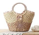(ミッシーアンドラブ)Missy&Love レース編みとリボンがキュート 絶対持ちたい かごバッグ (50-47) (ピンク)