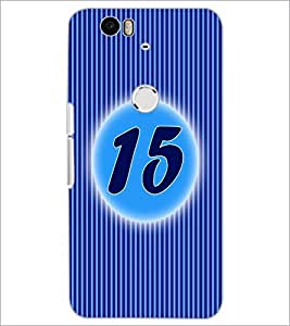 PrintDhaba Numerology Number 15 D-2571 Back Case Cover for HUAWEI NEXUS 6P (Multi-Coloured)