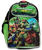 Teenage Mutant Ninja Turtles Backpack-Back to School Nickelodeon Bookbag Featuring Leonardo, Michelangelo,Donatello, and Raphael!-Turtle Power Backpack Includes Five Compartments!!