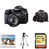 Canon EOS 70D DSLR with 18-135mm Lens Holiday Bundle with Picture Frame