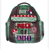 Room Seven Piece Of Art Boy Backpack. Green.
