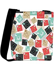 Snoogg A For Apple Designer Womens Carry Around Cross Body Tote Handbag Sling Bags