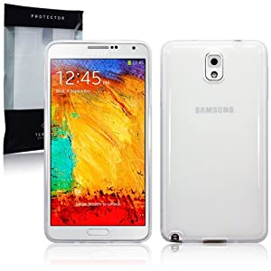 SAMSUNG GALAXY NOTE 3 TPU SILIKON HÜLLE TASCHE CASE COVER IN TRANSPARENT, TERRAPIN RETAIL VERPACKUNG