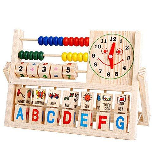 YIWULA-Kids-Learning-Developmental-Versatile-Flap-Abacus-Wooden-Toys