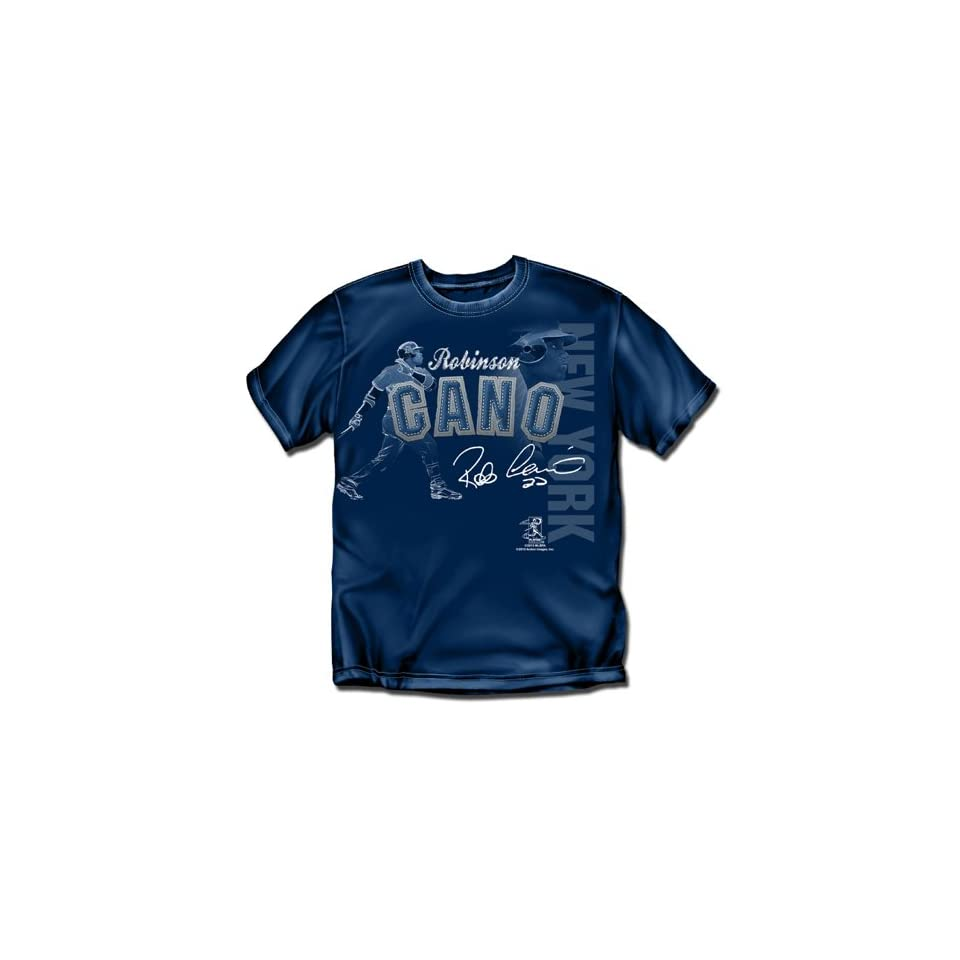 "New York Yankees MLB Robinson Cano Players Stitch"" Mens Tee (Navy) (X Large)""  Sports Fan T Shirts  Sports & Outdoors"