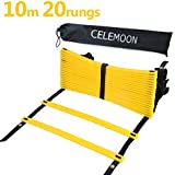 CELEMOON Pro Durable 20 Rungs Agility Ladder With Black Carry Case, Best Speed Training Equipment For Agility...