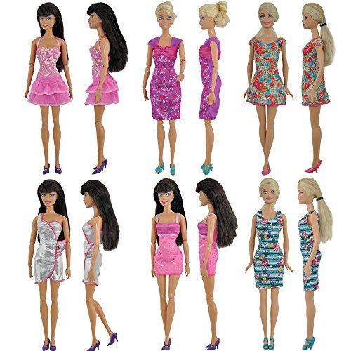 12 paia scarpe accessori per bambole barbie vari colori for Accessori per barbie