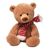 "Gund Fun Christmas Noggin Tan Bear 13"" Plush by Gund Fun"