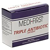 Triple Antibiotic Cream Ointment - 25 ct Box Individual Units 0.9g