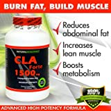 CLA Forte - #1 Natural Fat Burner - Maximum Strength - 1500mg, 120 Softgels - Made with 100% Pure Safflower Oil