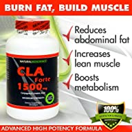 CLA Forte – #1 Natural Fat Burner – Maximum Strength – 1500mg, 120 Softgels – Made with 100% Pure…