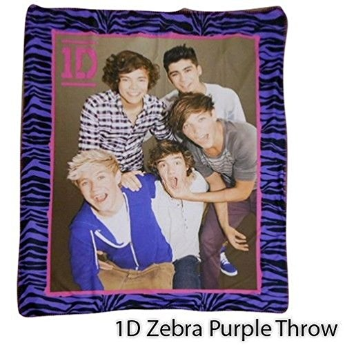 Popcandy One Direction 1D Fleece Plush 50X60 Throw 2 Ply Cuddle Blankets - In 3 Styles (One Direction Big Fleece Blanket compare prices)