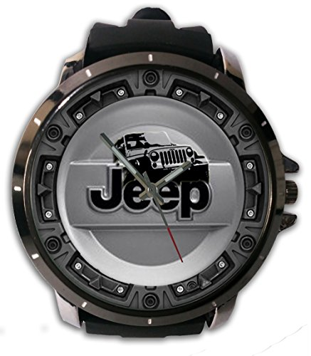 New Custom Printed New Jeep Tire Covers Custom Watch Alloy Stainless-Steel With Rubber Band