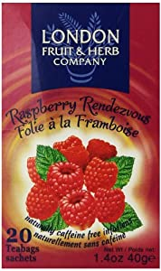 London Fruit & Herb Company Raspberry Rendezvous Tea, 20 Tea Bags