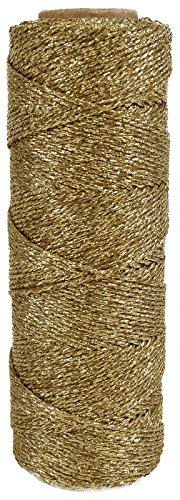 just-artifacts-eco-bakers-twine-55yd-11-ply-solid-gold-decorative-bakers-twine-for-diy-crafts-and-gi
