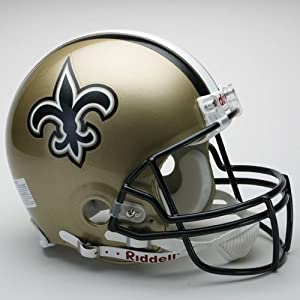 New Orleans Saints Unsigned Full-Size Deluxe Replica Helmet