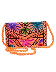 Arisha Kreation Co Women Hand Bag (Orange)