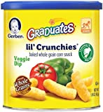 Gerber Graduates Lil' Crunchies, Veggie Dip, 1.48-Ounce Canisters (Pack of 6) FlavorName: Veggie Dip, Model: 9600355, Newborn & Baby Supply
