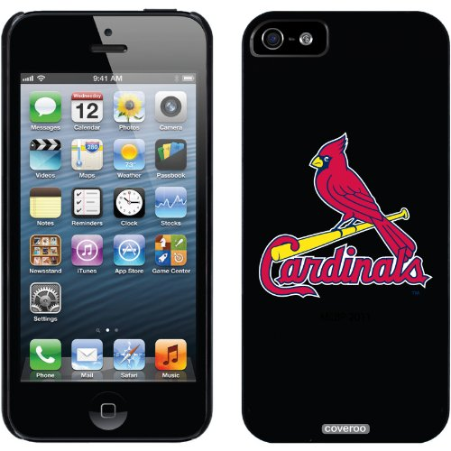 Best Price Coveroo St. Louis Cardinals - 1 Cardinal design on a Black iPhone 5 Thinshield Snap-On Case