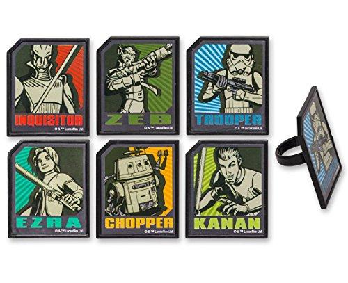 DecoPac Star Wars Rebels Regiment Rings (12 Count)