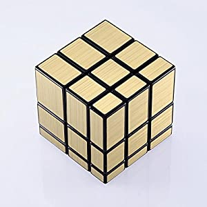 JohnsDollarStore 3x3x3 Puzzle Magic Mirror Cube Gold