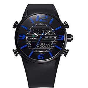 Qaistywf® WEIDE Men's Fashion Casual Reloj Quartz Watch Digital LED Relogios Military Relogio Masculino Diving Waterproof Men Watches
