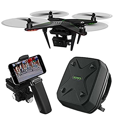 Xplorer G Quadcopter Aerial Drone w/3-Axis Gimbal for GoPro All Inclusive Bundle With Custom Hard Shell Back Pack And 3-Axis Handheld Gimbal by Xiro