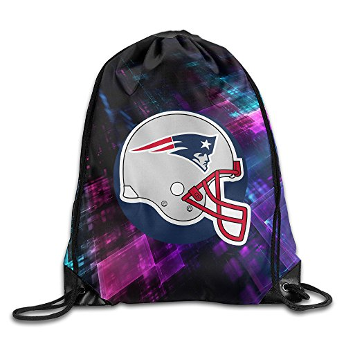 [HROSE New England Patriots Drawstring Backpack Bag Lightweight Tote Dance Bag For Men & Women Sackpack - Great For Home Travel Sport Everyday Storage] (Crosby Halloween Costume)