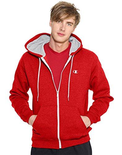 Champion Men's Full-zip Eco Fleece Jacket Hoodie, Crimson, XX-Large