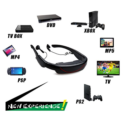 Excelvan 2015 HOT 72 Inch Virtual Digital Portable Video Glasses Personal Theater Widescreen with 3D Stereo Sound...