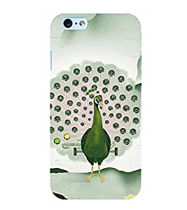 ANIMATED PEACOCK FEATHERS SHOWN AS A KEYPAD 3D Hard Polycarbonate Designer Back Case Cover for Apple iPhone 6