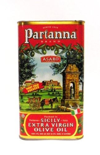 Partanna Extra Virgin Olive Oil, 101-Ounce Tin by 