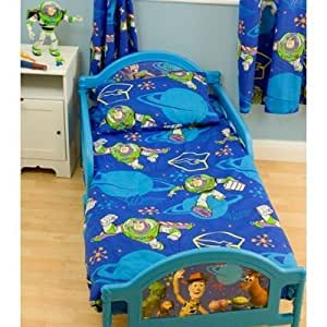 kinder jungen toy story kinderbett bettdecken und kopfkissen bezug set kinder bett blau. Black Bedroom Furniture Sets. Home Design Ideas