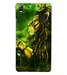 ColourCraft The Lion Look Design Back Case Cover for LENOVO A7000 TURBO