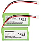 Floureon 2 Packs 2.4V 900mAh Rechargeable Cordless Phone Telephone batteries for GE 5-2734, 5-2814, 5-2826, 5-2840, H-5250, H-5401