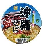 J-0018 沖縄限定販売 沖縄そば(かつおとソーキ味)カップ