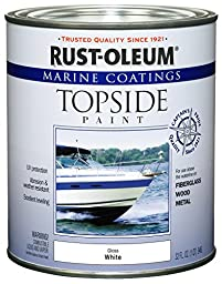 Rust-Oleum 206999 Marine Topside Paint, White, 1-Quart - 4 Pack
