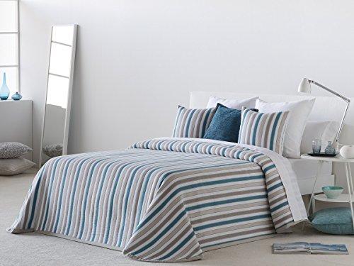 Textilhome Colcha Bouti HYDRA, Tamaño 105cm - Color Turquesa