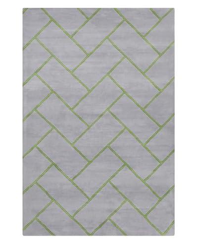 Filament Etsuko Hand-Tufted Wool Rug, Grey/Green, 5' x 7' 6