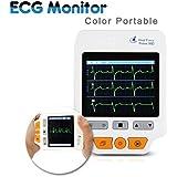 Heal Force® ECG portable 180D Couleur + ECG câbles fils + 50pcs électrodes ECG pour Mesure des mains Palm placement Jambe mesure etc