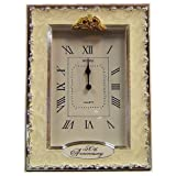 Clocks - 50th Anniversary Golden Wedding Celebration Quartz Table Clockby Shudehill Giftware