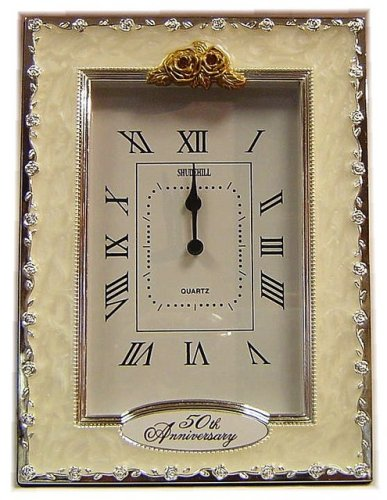 Clocks - 50th Anniversary Golden Wedding Celebration Quartz Table Clock