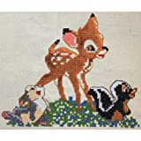 M C G Textiles 7 x 8.5-inch Disney Dreams Collection Bambi Counted Cross Stitch Kit