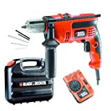 Black & decker - trapano elettrico 710 w in valigetta e accessori cd714cret2a