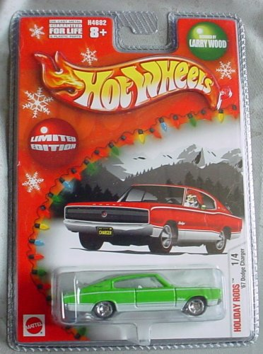 Hot Wheels Holiday Rods '67 Dodge Charger 1/4 Larry Wood Limited Edition in RED or GREEN or WHITE