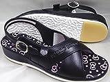 ハローキティ ナースサンダル SA-02703 オフィスサンダル レディース (S(22~22.5cm), ブラック)