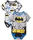 Warner Brothers Baby Baby-Boys Newborn Batman 2 Pack Bodysuit Set with Muscles